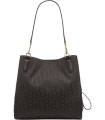 calvin klein elaine signature triple compartment tote