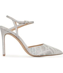 badgley mischka fedora crystal-embellished pumps - metallic