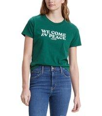 levi's women's graphic-print surf t-shirt