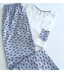 pijama hombre / pantalon y camiseta cuello v //
