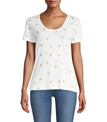 luna lemon-print t-shirt