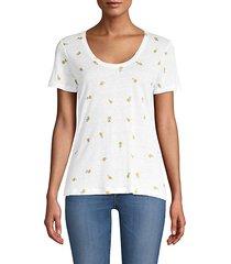 luna lemon-print t-shirt