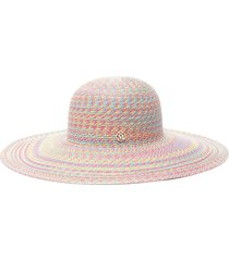 blanche' ribbon embellished hemp straw hat