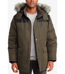 sean john men's faux-fur trimmed parka