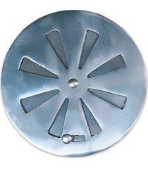 grelha regulável redonda para caixa sifonada 10cm alumínio