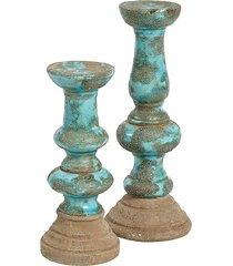 świecznik azzurro 38cm ceramika