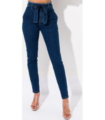 akira you and me high waisted belted skinny jeans