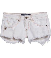 shorts john john niki corunha jeans off white feminino (jeans claro, 50)