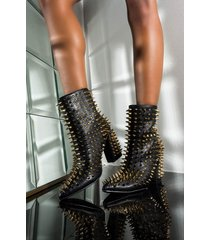 akira cape robbin here comes the change studded bootie