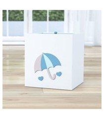 lixeira bebe branco chuva de amor azul gráo de gente azul