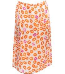 marni printed elastic skirt