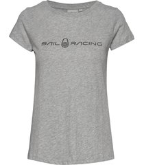 w gale tee t-shirts & tops short-sleeved grå sail racing