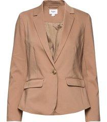 t4063, woven blazer blazer colbert beige saint tropez