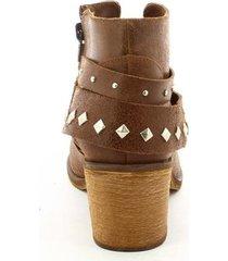 botines para mujer marca san polos color café san polos - marrón