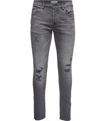 slim fit jeans geweven grijze