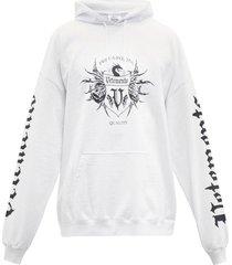black label logo hoodie white
