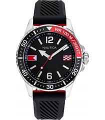 reloj casual negro nautica