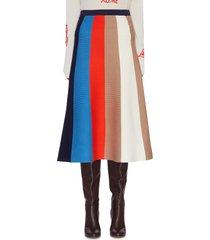 colourblock stripe a line skirt