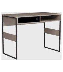 mesa office sydney 100cm metallic suede/ bege