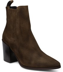classic western elastic shoes boots ankle boots ankle boot - heel grön apair
