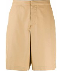 oamc beige fine cotton shorts