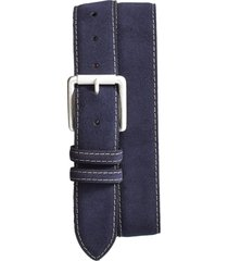 men's big & tall torino suede belt, size 46 - navy