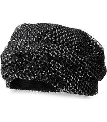maison michel hiromi sequin turban - black
