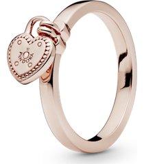 anel pandora rose promessas de amor