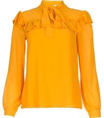 blouse met ruches winnie  geel