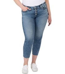 silver jeans co. trendy plus size mid-rise suki skinny jeans