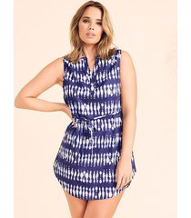 horizon tie dye shirt dress