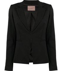 twin-set blazer de alfaiataria slim - preto