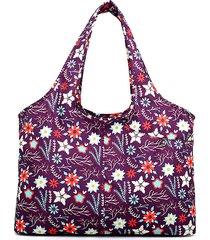 spalla borsa della borsa di grande capacità impermeabile della stampa nazionale nylon delle donne