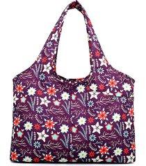 women national print nylon impermeabile borsa a tracolla grande capacità borsa