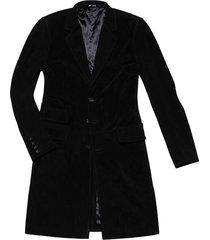 black suede leather coat
