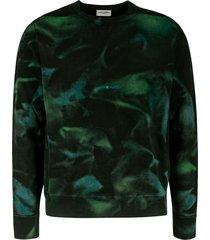 saint laurent all-over print sweatshirt