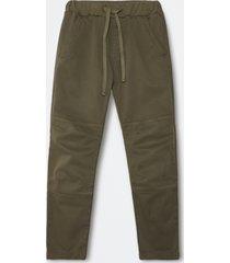 pantaloni chino in gabardina