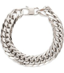 eye candy la men's john titanium curb chain bracelet