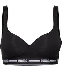 puma iconic padded top 1p hang lingerie bras & tops soft bras svart puma