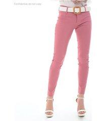 pantalon para mujer en bengalina rosa-mag color rosa-mag talla14