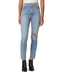 joe's jeans women's the raine distressed skinny jeans - blue - size 23 (00)