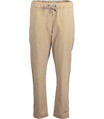 drawstring twill pants