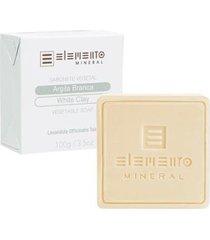 argila branca elemento mineral - sabonete vegetal 100g