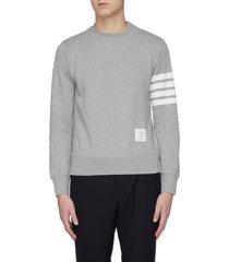 bar stripe crewneck sweatshirt