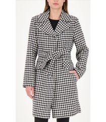 kate spade new york gingham belted wrap coat, created for macy's