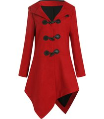 asymmetric duffle coat with hoodie