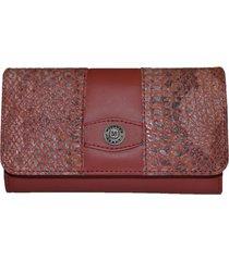 billetera gran formato delia rojo bisacce