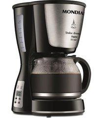 cafeteira elétrica digital mondial dolce arome c-31 dg 32x preta 32 xícaras - 220v