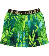 versace pleated jungle skirt