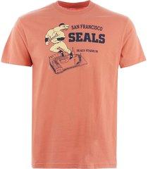 ebbets field flannels san francisco seals stadium t-shirt - coral sfst